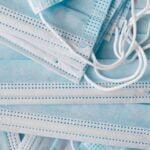 light blue one use medical protective masks